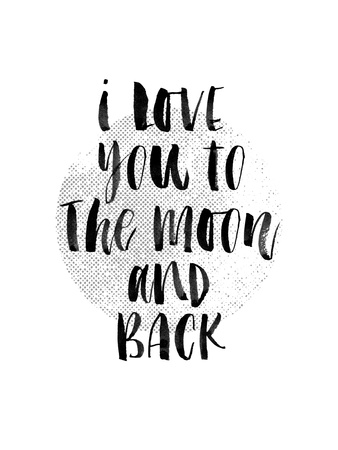 I Love You to The Moon and Back 2 Prints by Brett Wilson
