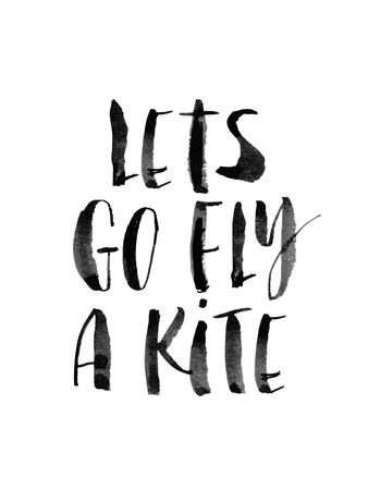 Lets Go Fly a Kite Prints by Brett Wilson