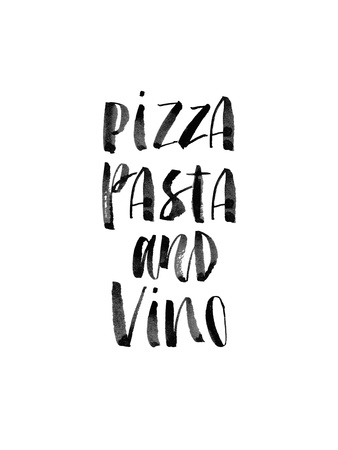 Pizza Pasta and Vino Prints by Brett Wilson