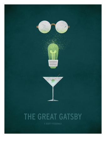 The Great Gatsby Minimal Posters by Christian Jackson