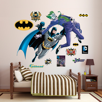 Batman and The Joker Battle Wall Decal