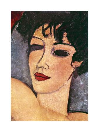 Detail of a Sleeping Nude, C1917 Stampa giclée di Amadeo Modigliani