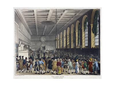 Interior of Custom House, London, 1808 Giclee Print by Augustus Charles Pugin