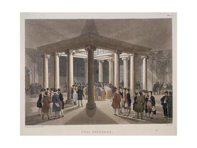 Coal Exchange, London, 1808 Giclee Print by Augustus Charles Pugin