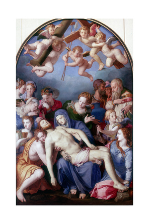 The Deposition from the Cross, 1443-1445 Giclée-tryk af Agnolo Bronzino