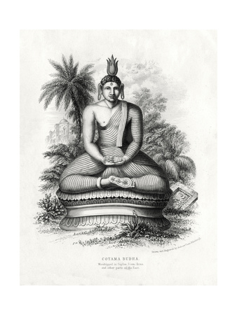 Cotoma Budha, Worshipped in Ceylon, Siam, China, 19th Century Giclee Print by Andrew Thom