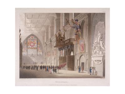 Guildhall, London, 1808 Giclee Print by Augustus Charles Pugin