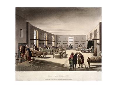 Mortimer Street, Marylebone, London, 1808 Giclee Print by Augustus Charles Pugin