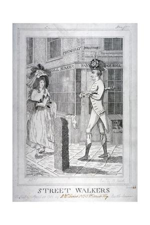 Street Walkers, 1786 Giclee Print by Benjamin Smith