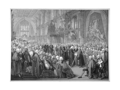 Interior of the Guildhall, City of London, 1782 Giclee Print by Benjamin Smith