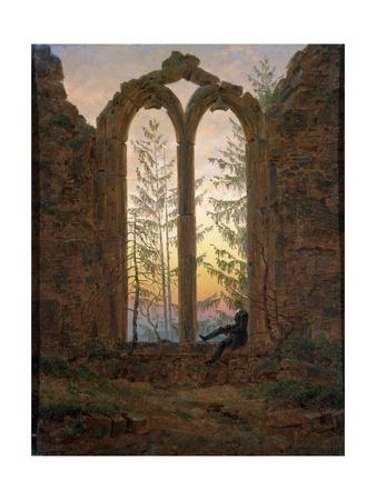 The Dreamer (Ruins of the Oybi), C1835 Giclee Print by Caspar David Friedrich