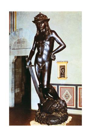 Bronze Statue of David, C1430-1440 Giclee Print by  Donatello