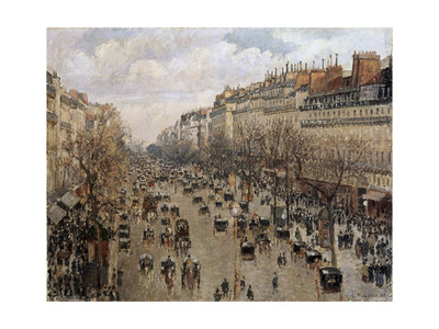 Boulevard Montmartre in Paris, 1897 Giclee Print by Camille Pissarro