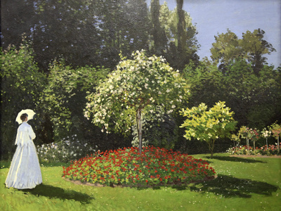 Lady in the Garden, 1867 Giclee Print by Claude Monet