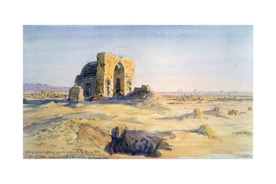 City of Tombs, Looking Towards Sakkara, Cairo, Egypt, 1863 Giclee Print by Charles Emile De Tournemine