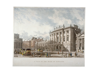The Bank of England, City of London, 1816 Giclee Print by Daniel Havell