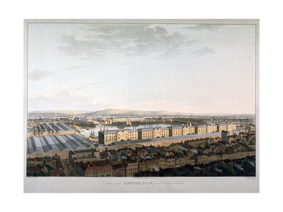 View of London Docks, 1816 Giclee Print by Daniel Havell
