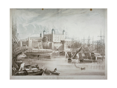 Tower of London, 1819 Giclee Print by Daniel Havell