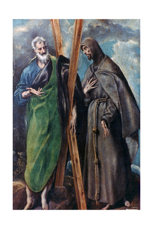 St Andrew and St Francis, C1590-1595 Giclee Print by  El Greco