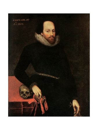 The Ashbourne Portrait of Shakespeare, 16th Century Giclee Print by Cornelius Ketel