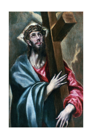 Christ Clasping the Cross, 1600-1610 Giclee Print by  El Greco