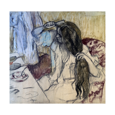 Woman at Her Toilette, 1889 Giclee Print by Edgar Degas