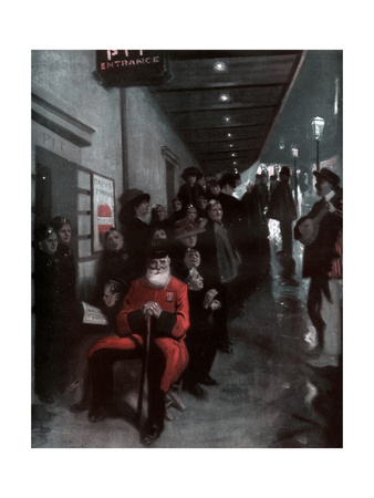 The Queue, the Pensioner and the Dollar Princess, 1910 Giclee Print by Fred Leist