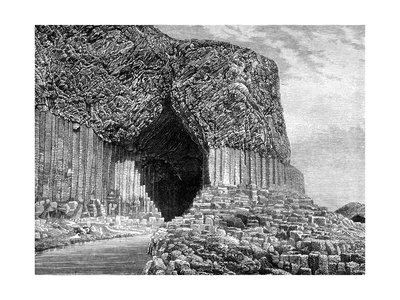 Fingal's Cave, Island of Staffa, Scotland, 19th Century Giclee Print by Frederic Sorrieu