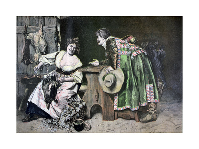 Gallant Remarks, 1893 Giclee Print by Ferdinand Roybet