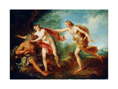 Apollo and Daphne, 18th Century Giclee Print by Francois Lemoyne