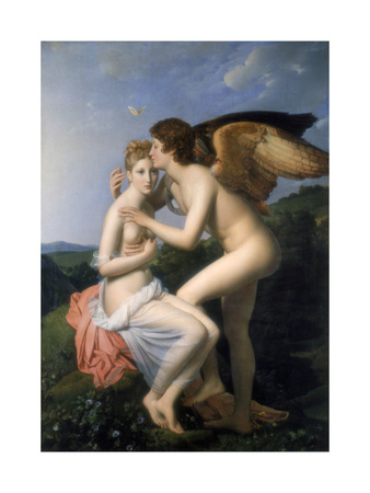 Psyche Receiving the First Kiss of Cupid, 1798 Giclee Print by Francois Pascal Simon Gerard