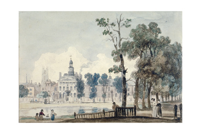 Exterior View of Old Bethlehem Hospital, Moorfields, City of London, 1811 Giclee Print by George Arnald