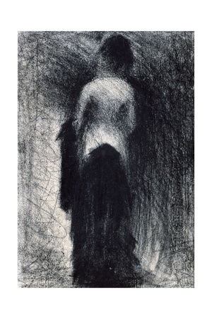 Woman Seen from the Back, C1880-1891 Giclee Print by Georges Seurat