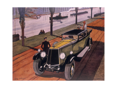 Poster Advertising Armstrong Siddeley Cars, 1930 Giclee Print by Guy Sabran