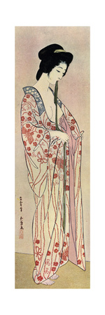 A Japanese Woman Wearing a Nagajuban, 1920 Giclee Print by Hashiguchi Goyo