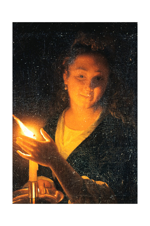 Woman with Candle, Late 1660S Giclee Print by Godfried Schalcken