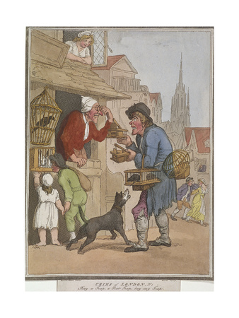 Buy a Trap, a Rat Trap, Buy My Trap, Plate I of Cries of London, 1799 Giclee Print by H Merke