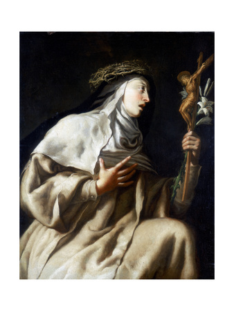St Teresa of Avila before the Cross, C1621-1663 Giclee Print by Guido Cagnacci