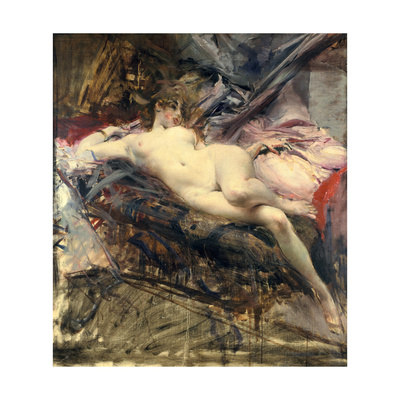 Reclining Nude, Late 19Th/Early 20th Century Giclee Print by Giovanni Boldini