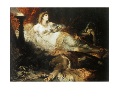 The Death of Cleopatra, 1875 Giclee Print by Hans Makart
