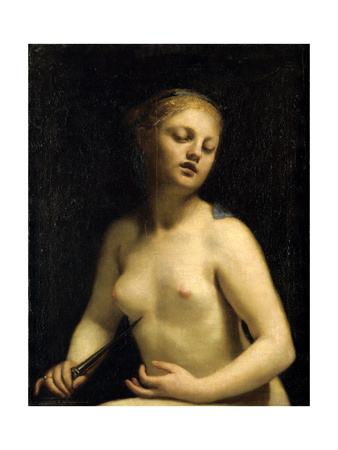 The Death of Lucretia, 17th Century Giclee Print by Guido Cagnacci