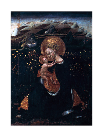 Virgin of Humility, 15th Century Giclée-tryk af Giovanni di Paolo