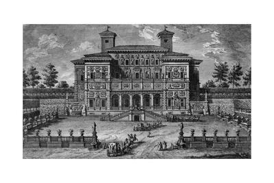 The Casino and Villa Borghese, Near Rome, 18th Century Giclee Print by Giuseppe Vasi