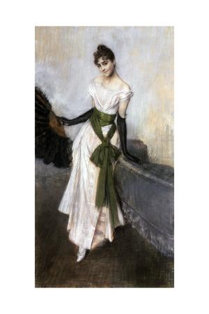 Portrait of Emiliana Concha De Ossa, 1888 Giclee Print by Giovanni Boldini