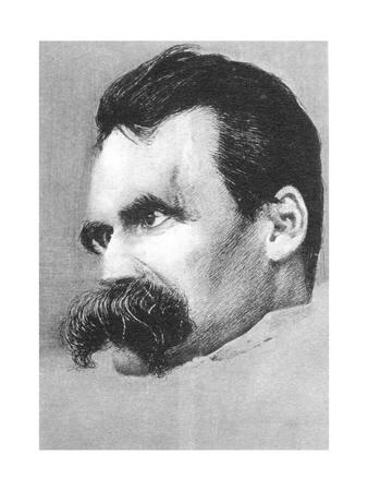 Friedrich Wilhelm Nietzsche, German Philospher and Writer Giclee Print by Hans Olde