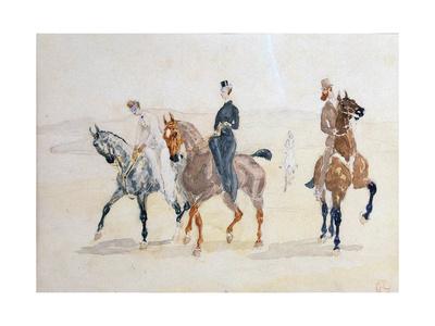 Riders, 1880S Giclee Print by Henri de Toulouse-Lautrec