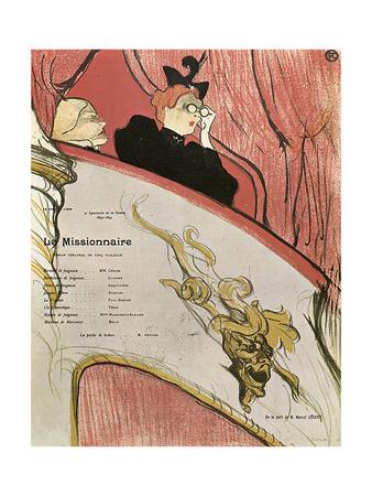 Le Missionaire, 1894 Giclee Print by Henri de Toulouse-Lautrec