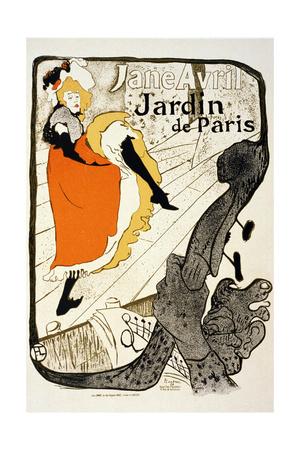 Jane Avril at the Jardin De Paris, 1893 Giclee Print by Henri de Toulouse-Lautrec