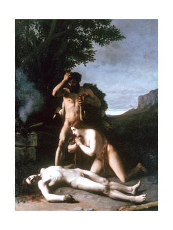 Adam and Eve Finding the Body of Abel, 1858 Giclee Print by Jean Jacques Henner
