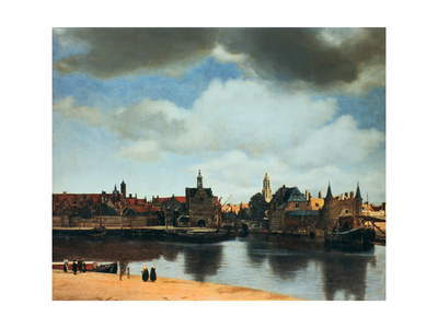 View of Delft, Netherlands, after the Fire, C1658 Premium Giclee Print by Jan Vermeer